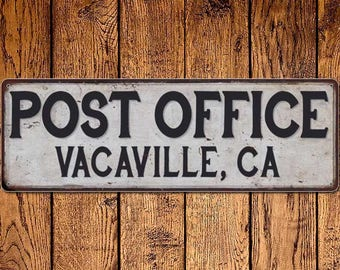 High Quality Vacaville, Ca Post Office Vintage Look Metal Sign Chic Retro 6182377