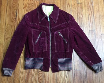 1970s Velvet Silk Lined Jacket