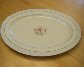 "Fine China of Japan 'Regency' Oval Serving Platter, 16-3/8"" x 12-1/4"""