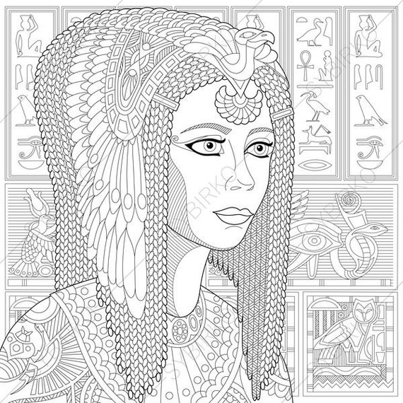 cleopatra egyptian coloring pages - photo#8