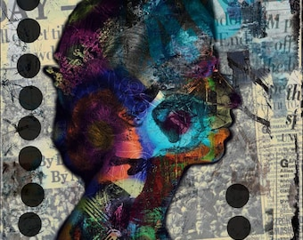 Portrait, the queen, popart, Kunstwerk, zeitgenössische Kunst, mixedmedia, abstrakt, bunt, wandbild,england, digitale kunst