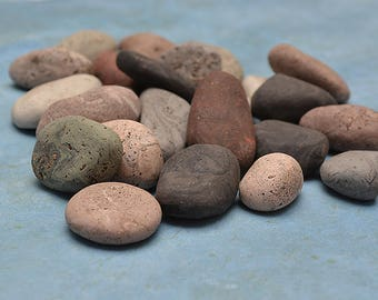 Terrarium Decoration | Faux Stones | Fairy Garden Stones | Faux Pebbles | Polymer Clay Pebbles | Faux River Rock | Miniature Garden Stones