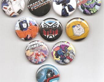 Transformers Set of 10 Pins Button Badge Pinback