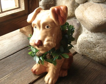 Large SylvaC Terrier Dog Figurine, English Art Pottery, Cottage Chic, 1930s, Dog Lover Gift