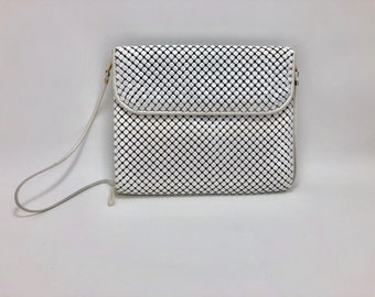 Whiting and Davis mesh White Purse