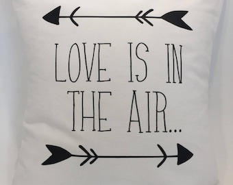 """Pillow cover """"Love is in the air"""""""