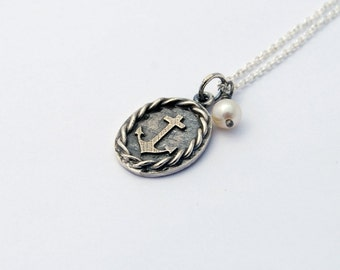 Little Anchor necklace  - sterling silver anchor necklace