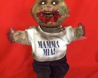 Ben Dover is a OOAK zombie baby art doll