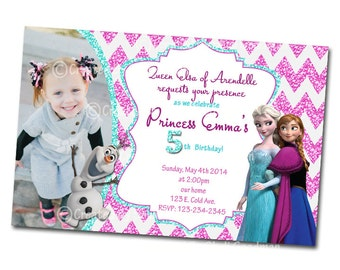 Frozen Invitations - printable - DIY - digital file (F11)