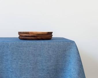 "FREE Shipping USA & Canada - Denim Linen Tablecloth 55"" x 90"""