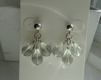 Green Amethyst Earrings  -  #333