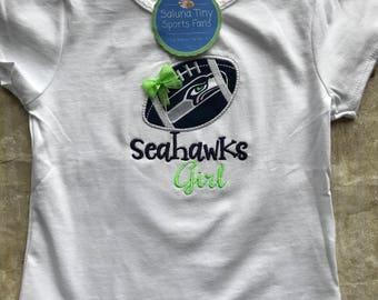Seattle Seahawks Inspired  Girl Shirt or Bodysuit