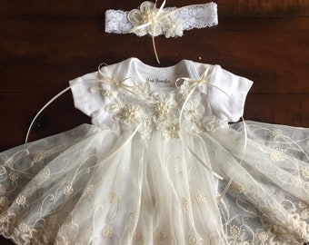 Preemie Take Home Outfit Ivory & White