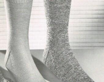 Vintage Sock Knitting Pattern for Men and Women - Retro Socks - PDF knitting pattern - Knitting patterns for women - - basic sock