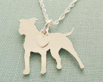 Pomeranian necklace sterling silver personalize pendant pitbull dog necklace sterling silver personalize pit bull pendant breed silhouette charm resue aloadofball Gallery