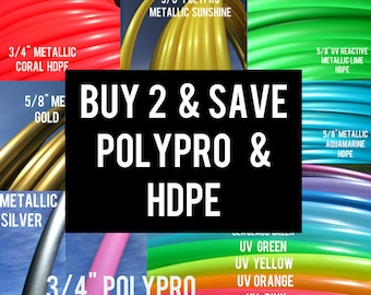 Buy 2 Save 15% POLYPRO and HDPE Doubles Dance & Exercise Hula Hoop sale collapsible with push button
