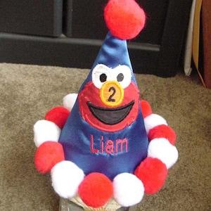 Elmo Birthday Party hat Keepsake Personalized Girl Boy Toddler