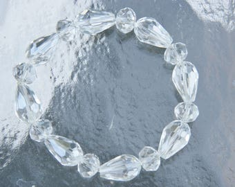 Clear Beaded Crystal Bracelet