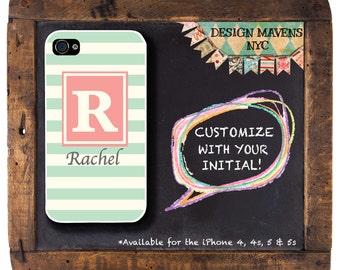 Rugby Stripe iPhone Case, Monogrammed iPhone, Spring iPhone Case, iPhone X, iPhone 8, 8 Plus, iPhone 7, 7 Plus, SE, iPhone 6, 6s, 6 Plus, 5