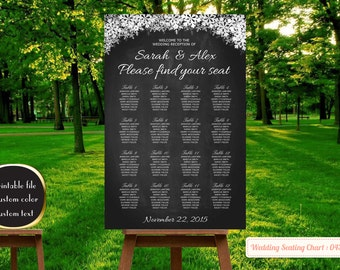 wedding seating chart template wedding seating chart printable, wedding seating chart poster seating chartprintable,wedding decorations| 43
