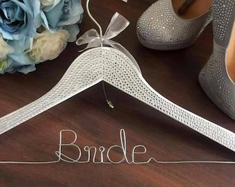 BLINGED Bride Coat Hanger, Rhinestone Hanger for Bride: sparkly bride hanger; glamorous bride hanger;bride wedding coat hanger;bride hanger