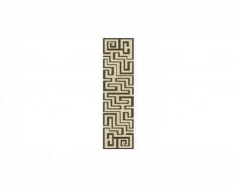 Aztec Maze Cuff Bracelet - Loom or 1 Drop Even Peyote Bead Pattern