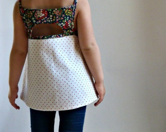 SHANDIIN Tank & Tunic - PDF Sewing Pattern for Girls 12/18mo to 8