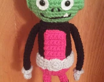 "Teen Titans ""Beast Boy"" Inspired Amigurumi Crochet Pattern"