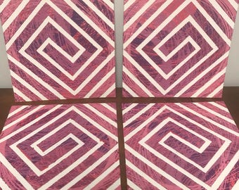 Pink Spiral Pendulum Painting (Sold Individually)