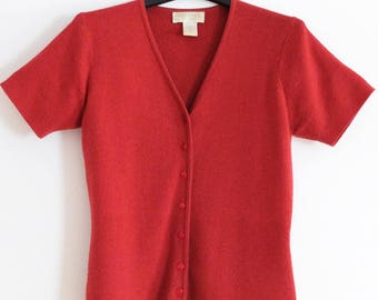 Express Red Half Sleeve Sweater, Size M