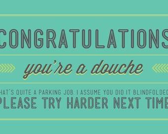 Parking Douche Cards