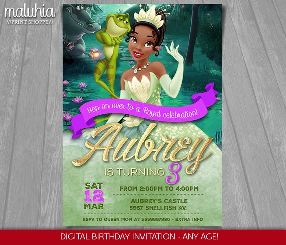 The Princess and the Frog Custom Invitations