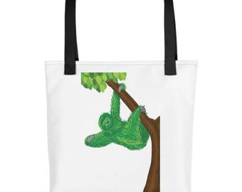Green Sloth purse, carry on, diaper bag, Tote bag