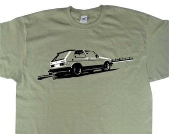 Classic MK1 MKI Golf Rabbit GTi T-Shirt VW Volkswagen Inspired BC210 Various Colours