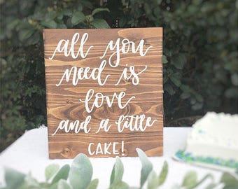 Wedding wood sign wooden sign wedding cake table sign wedding reception rustic wedding decor wedding decorations rustic wedding sign