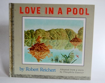 Vintage Children's Book, Love in a Pool