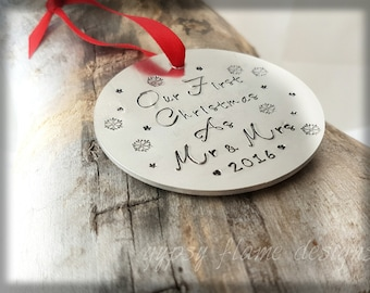 Personalised Christmas tree ornament  christmas tree decoration christmas tree decoration first christmas tree decoration custom decoration