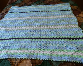 Hand Crocheted Baby Blanket # 26