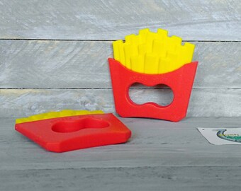 French fry baby teething pendant * baby shower gift * french fry teether * French fries baby teether * food grade silicone * fast food