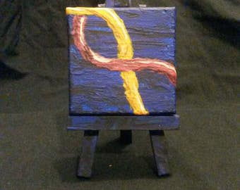 Helix sea. Mini blacklight painting.