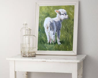Lamb Painting Lamb Art Lamb Sheep PRINT Lamb - Art Print - from original painting by J Coates