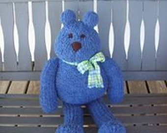 Bear,Bears,Toys,Stuffed Animals,Gifts,Photo's,Blue,Knit,Children,Kids,Adults,Seniors