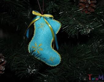Boot Ornaments New Year's decor Felt toys christmas Decorations on the Christmas tree (10 cm)