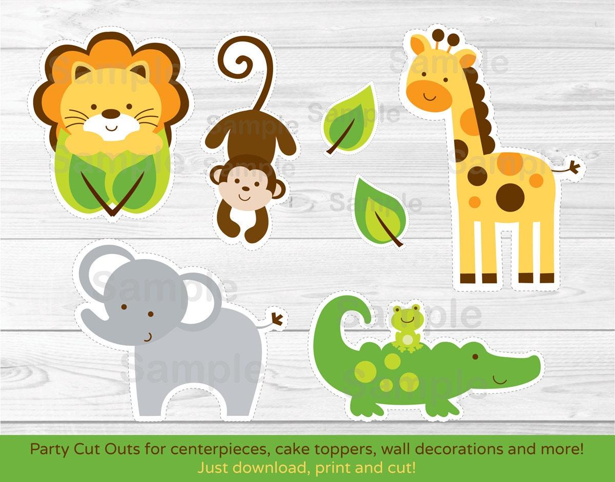 Jungle safari animal cut outs centerpiece wall decor zoom voltagebd Images