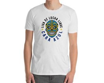 Liga De Lucha Libre Cara Azul Short-Sleeve T-Shirt