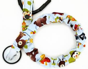 Stethoscope Cover, Student Nurse, Nursing Student, Stethoscope Sock, Medical, Stethoscope Accessories, Woodland Animals, Bears, Owls, Birds