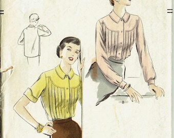 "Vintage Sewing Pattern Vogue 7151 Ladies' Blouse 36"" Bust- Free Pattern Grading E-book Included"
