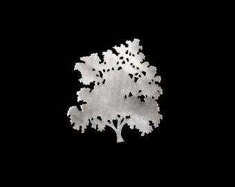 Silhouette tree brooch