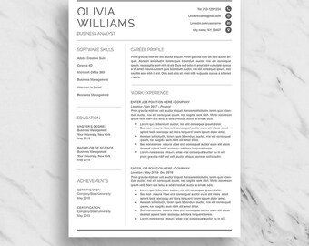 Marketing resume etsy professional resume template for word modern resume design cv template for word 2 yelopaper Images