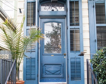New Orleans Blue Door Greeting Cards